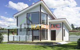Каркасный дом с мансардой 10,8х7,6 «Зодчий»