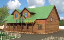 проект каркасного дома на 2 семьи