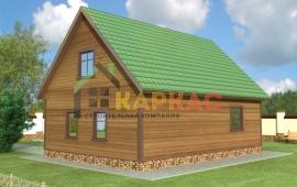 проект эконом каркасного дома