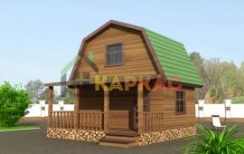 ломаная крыша в доме с террасой