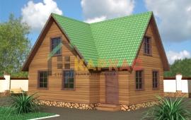 комфортный каркасный дом с мансардой