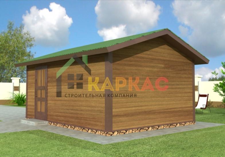 схема и проект каркасного гаража
