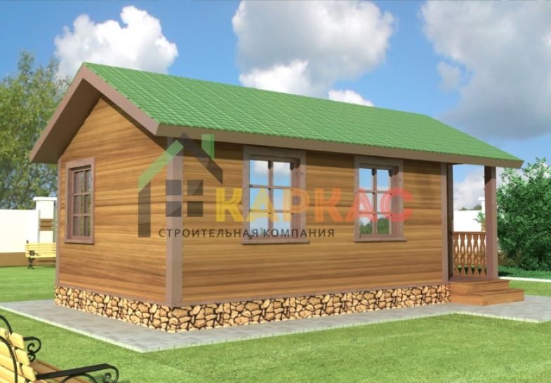 проект каркасного дома 4х7