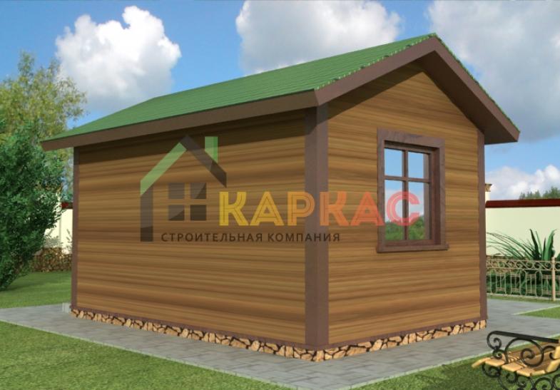 проект летней каркасной кухни 4,5х3 с внутренней планировкой