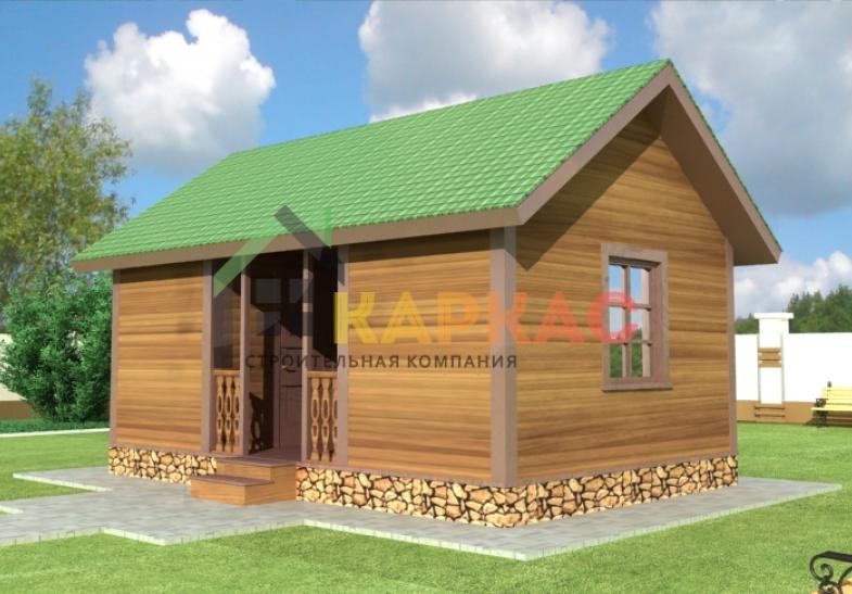 каркасный домик 6х4 фото