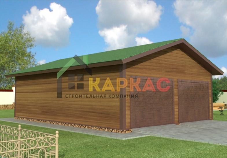 проект каркасного гаража с хозблоком с планировкой