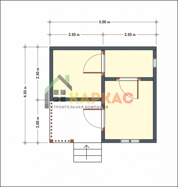Проект бани из бруса 6х4 с террасой Малаховка план