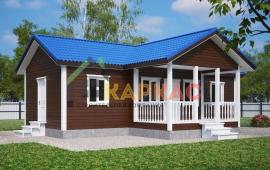 Проект большой деревянной бани 11,6х8,3 Дрезна