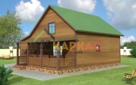 проект каркасного дома 10 на 8 с гаражом