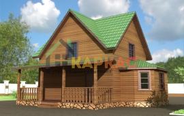 проект каркасного дома 8х9