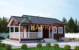 Каркасный дом-баня 10,6х7,5 «Проект №3» 1