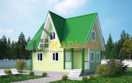 Каркасный дом 8х6 «Проект №6» 1