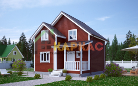 Каркасный дом 7,5х7 «Проект №9» 1