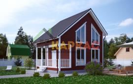 Каркасный дом 7,5х6 «Проект №11» 1