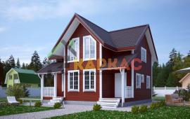 Каркасный дом 9х8 «Проект №14» 1