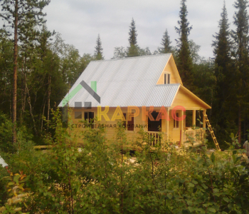 Фото дома из бруса «Эконом-5», 7.5х6 м