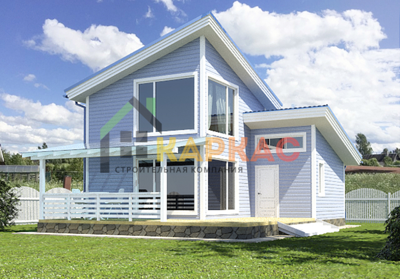 Проект баня-дом 10х7