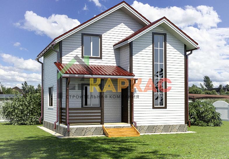 Двухэтажный каркасный дом 7х7 «Хаус»