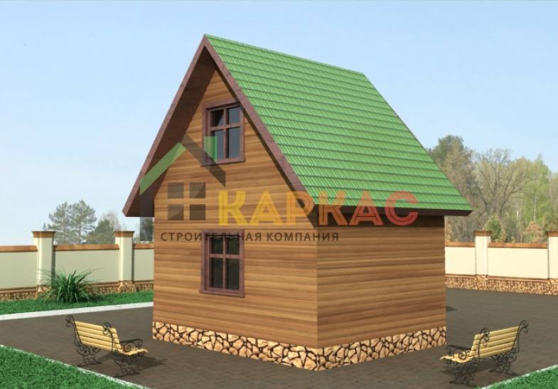 боковая стена и двухскатная крыша