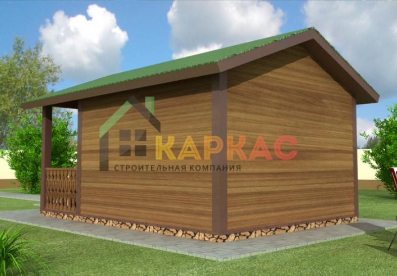 фото каркасного домика с террасой