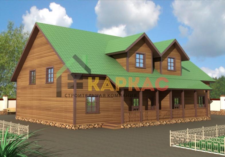 каркасный дом на 2 семьи проект