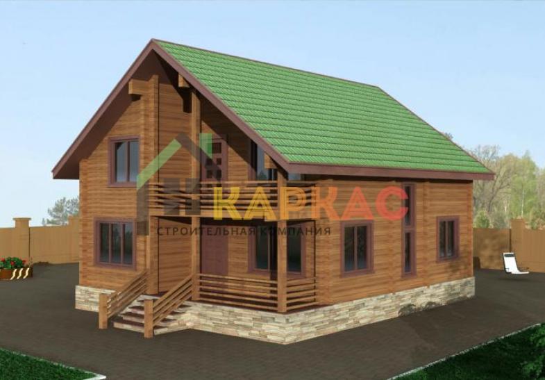 бесплатный проект двухэтажного дома каркасного