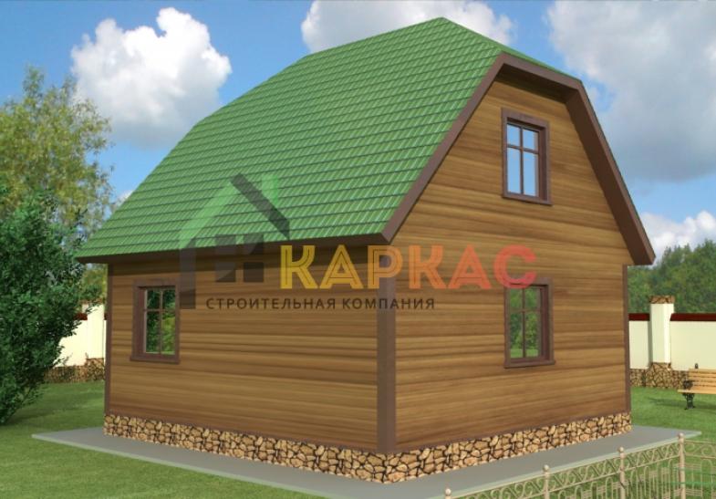 проект летней каркасной кухни 6х6 с планировкой