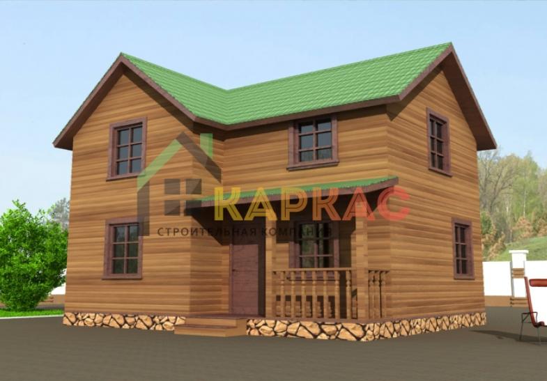 проект каркасного дома двухэтажного