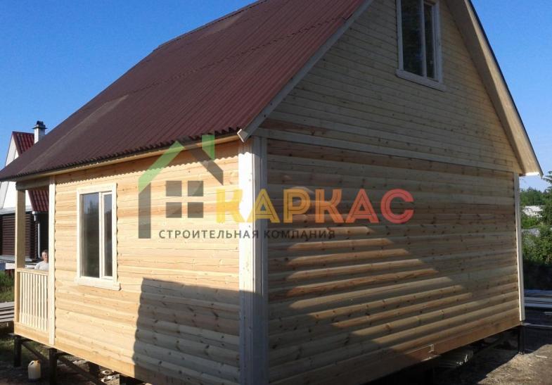проект каркасной бани 6х6 с мансардой