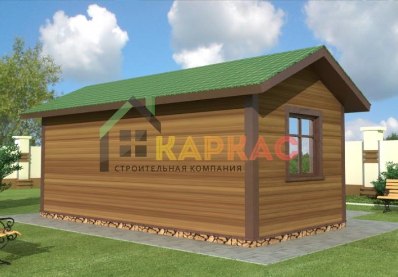 проект летней каркасной кухни 6х3 с планировкой