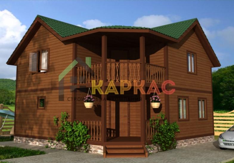 проект дома двухэтажного каркасного