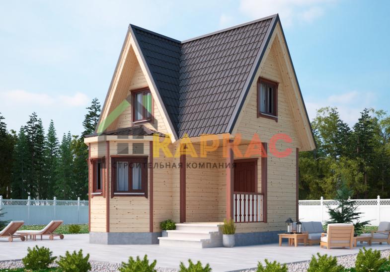 Каркасный дом 6х6 «Проект №1» 3