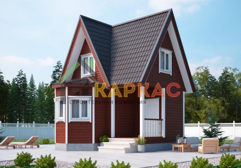 Каркасный дом 6х6 «Проект №1» 1