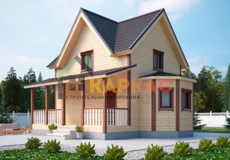Каркасный дом 9х8 «Проект №2» 4