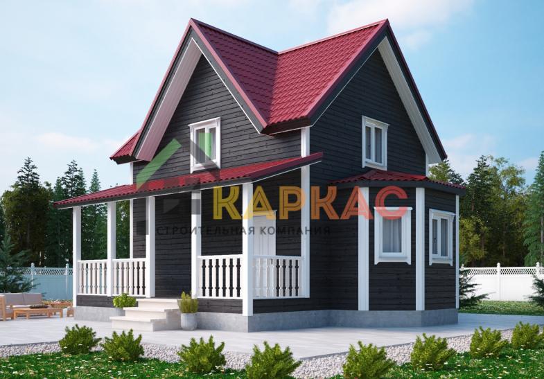 Каркасный дом 9х8 «Проект №2» 2