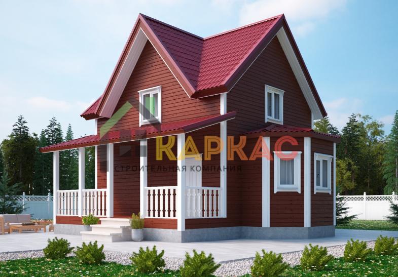 Каркасный дом 9х8 «Проект №2» 1