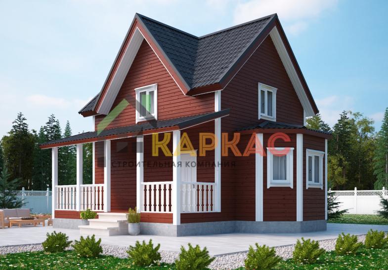Каркасный дом 9х8 «Проект №2» 3