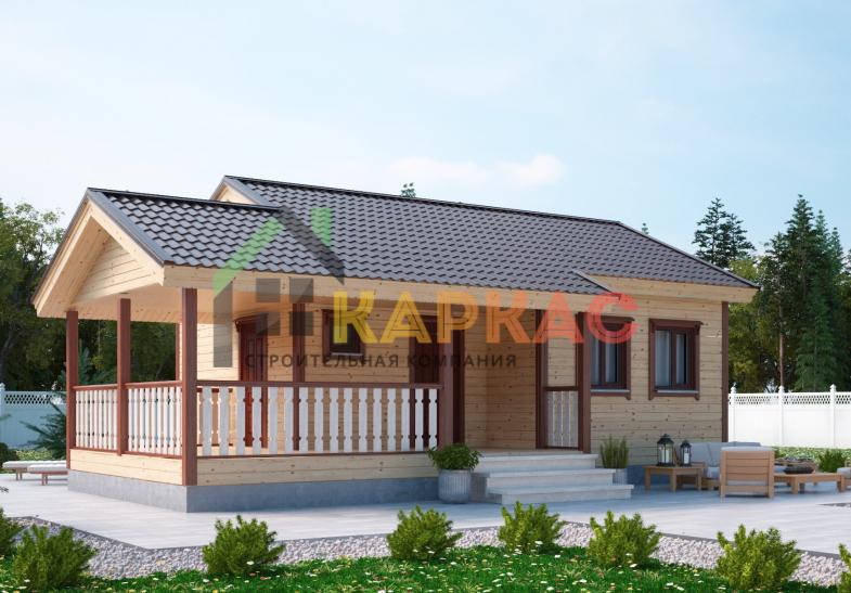 Каркасный дом-баня 10,6х7,5 «Проект №3» 3