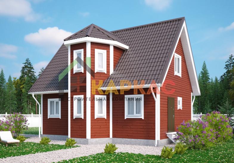 Каркасный дом 9х6 «Проект №4» 2