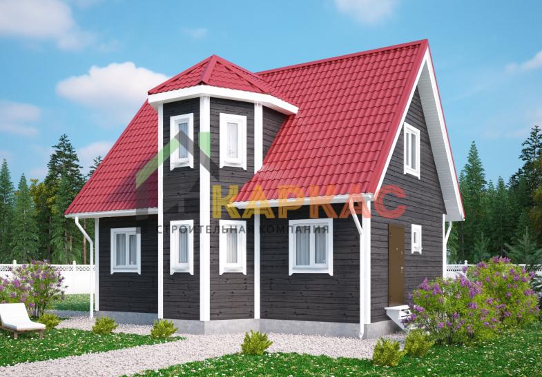 Каркасный дом 9х6 «Проект №4» 3