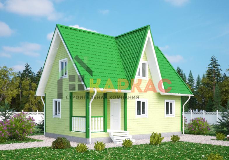 Каркасный дом 9х6 «Проект №5» 1