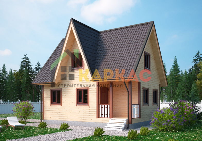 Каркасный дом 8х6 «Проект №6» 4