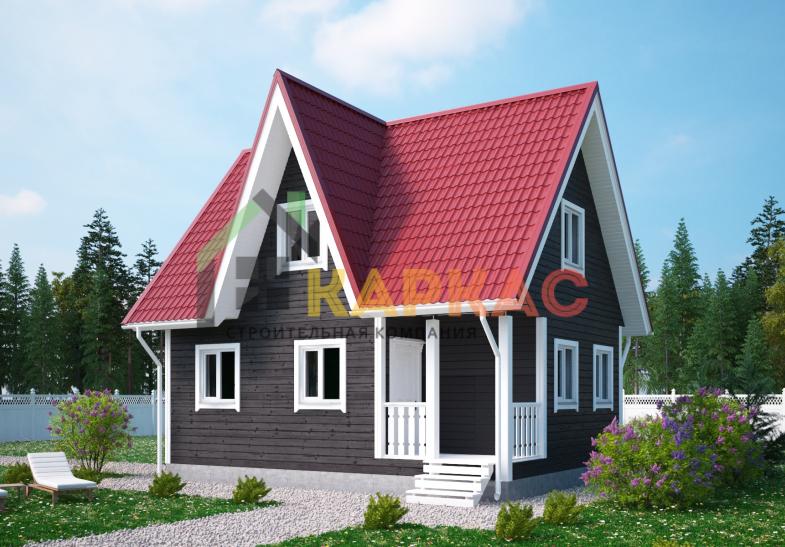 Каркасный дом 8х6 «Проект №6» 3