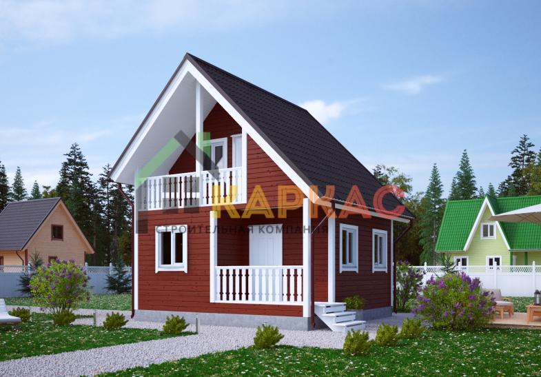 Каркасный дом 6х6 «Проект №8» 2