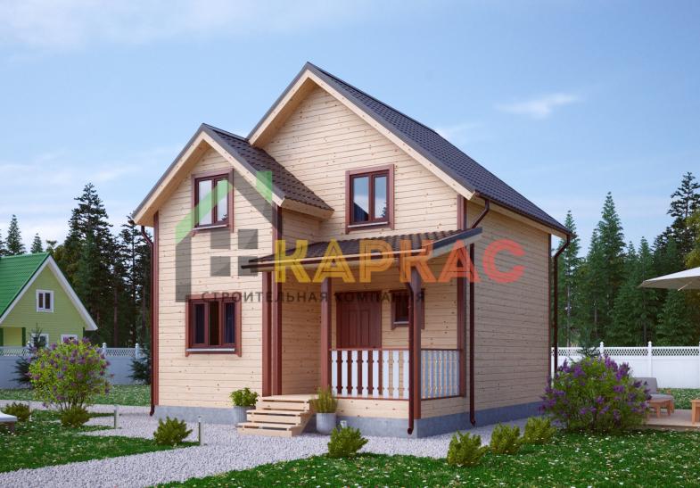 Каркасный дом 7,5х7 «Проект №9» 7