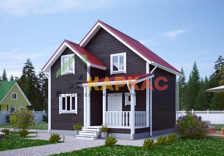 Каркасный дом 7,5х7 «Проект №9» 3