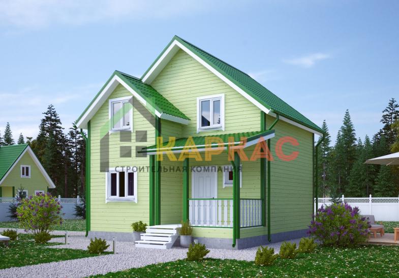 Каркасный дом 7,5х7 «Проект №9» 5
