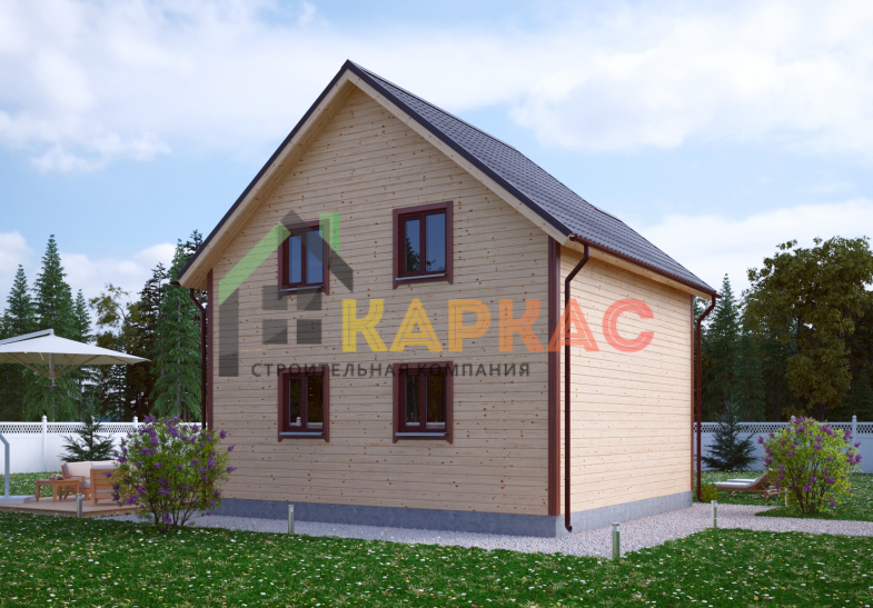 Каркасный дом 8,2х7,5 «Проект №10» 5