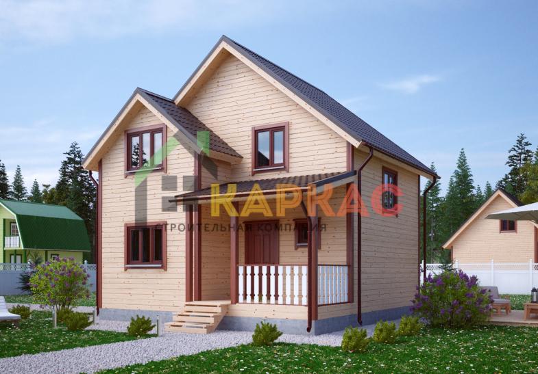 Каркасный дом 8,2х7,5 «Проект №10» 4