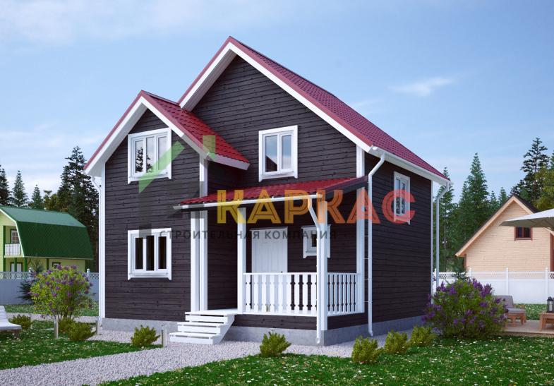 Каркасный дом 8,2х7,5 «Проект №10» 1